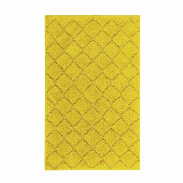 Covor baie bumbac Crystal mustard