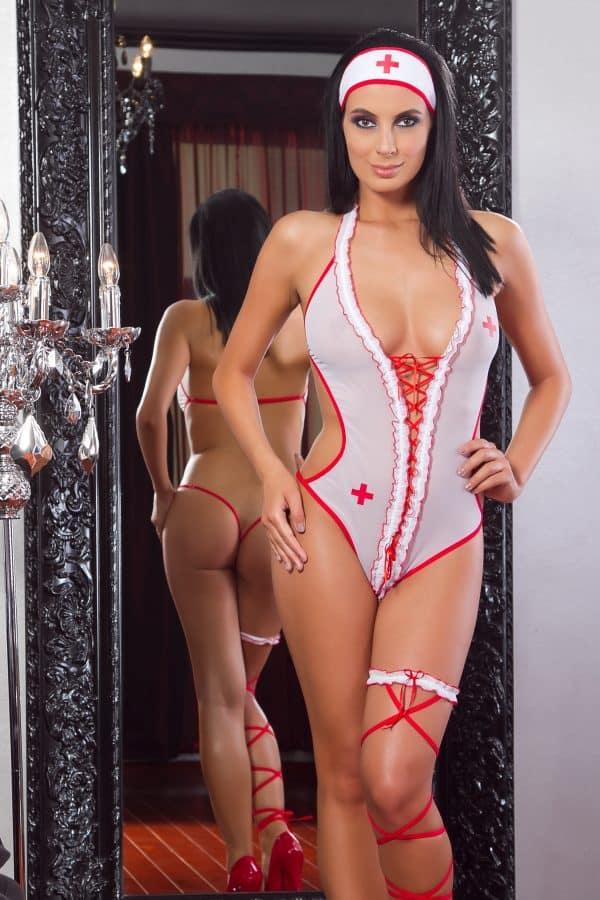 Costum sexy de asistenta HOLLY