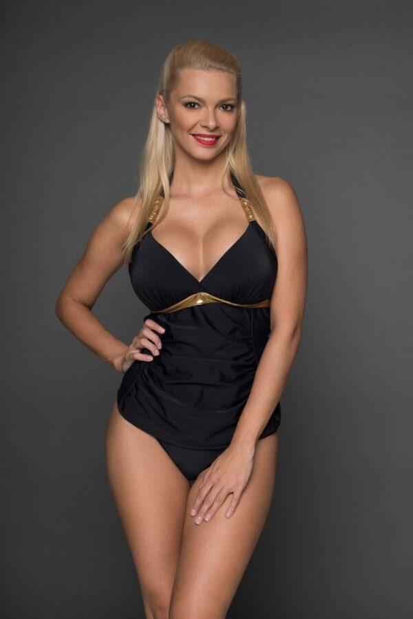 Tankini Napoli negru-auriu
