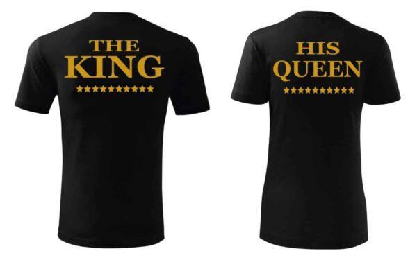 tricou pereche KING & QUEEN