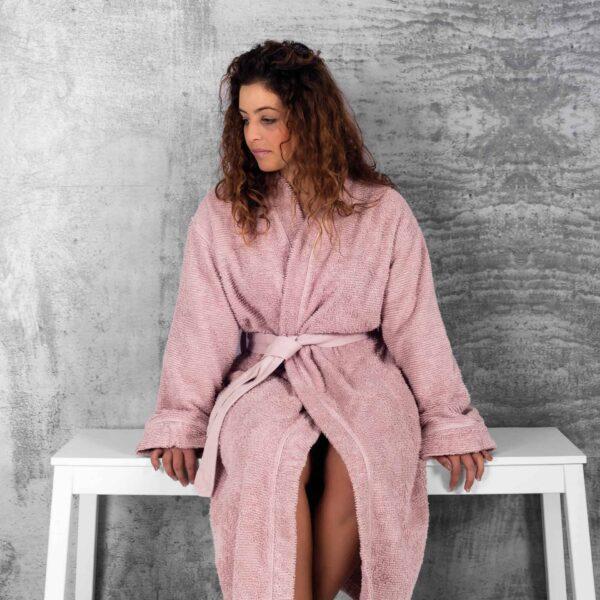 Halat de baie kimono RIBBON